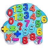 (cottonz) 木製おもちゃ 図形認知 英語アルファベット 色の認知 バス 木製タングラム 知育玩具 木製つみき キッズおもちゃ 子供 誕生日 プレゼント (数字)