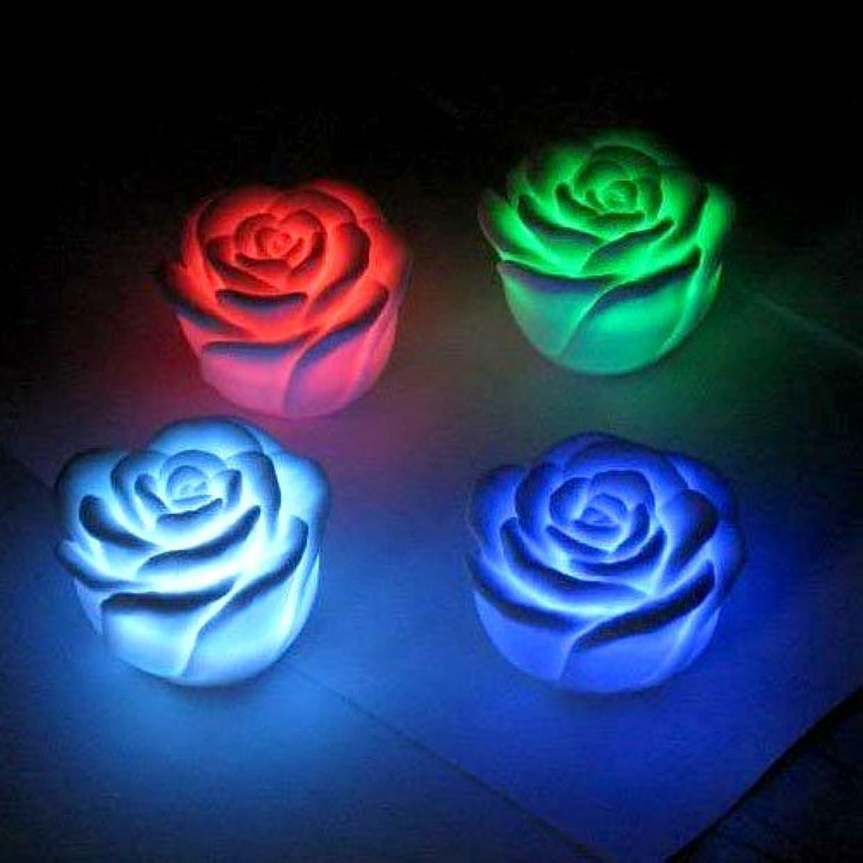 優しいスキャンダル逆説Hommy 七色変化バラの花形LED常夜灯 2個入り