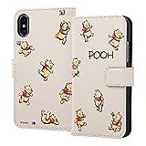 iPhone X/iPhone XS ケース ディズニーキャラクター 手帳型アートケース マグネット/くまのプーさん18 IN-DP8MLC2/PO018