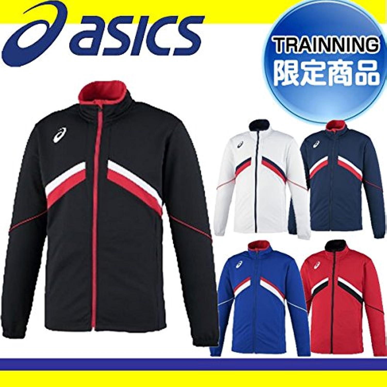 アシックス メンズ トレーニングジャケット ブルー XAT12T 45 L