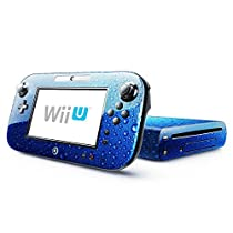 Abstract 200, Water Drops, Skin Sticker Vinyl Cover with Leather Effect Laminate and Colorful Design for Nintendo Wii U by Virano [並行輸入品]