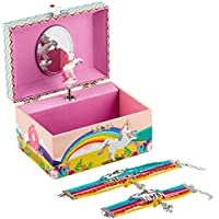 Kids Unicorn Jewellery Box Plus Bracelet Set, 3 Unicorn Gifts for Girls - LW KIDS Creations