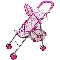 ベビー人形ベビーカー、HappyCell ?ベビーキッズ人形トロリーPretend Play Toy Stroller for Babies and Toddlers with安全バックル軸受ability 50 kgピンク洗濯可能(フィットforアメリカンガール人形最大12インチ) パープル HC-TG-TH0223Up