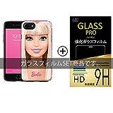 Barbie iPhone7plus ケース + 液晶保護ガラスフィルム 【 Type3 】 iPhone 7 plus / アイフォン / アイフォン7 + / バービー / バービー人形