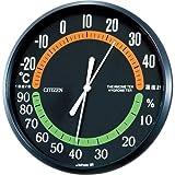 シチズン 温度計 ・ 湿度計 アナログ 掛け タイプ TM-42 黒 CITIZEN 9CZ013-002
