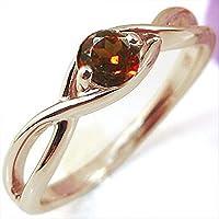 プレジュール K18ピンクゴールド リング ガーネット 婚約指輪 大粒 エンゲージリング リングサイズ14号