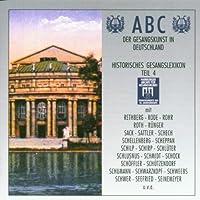 ABC Der Gesangskunst In Deutschland - Historisches Gesangslexikon Teil 4