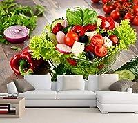 Yosot カスタム 3d の壁紙、サラダ野菜料理の壁紙、レストランリビングルームのテレビのソファーの壁キッチン防水壁紙-400cmx280cm