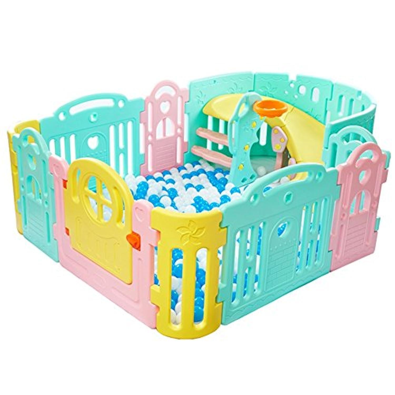 赤ちゃんPlaypenキッズ13パネルホーム屋内屋外多彩な色の安全性の再生センター庭228×160×68cm