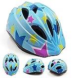 軽量 子供用 自転車 ヘルメット キッズ ジュニア アジャスター付き 調節可能 (星柄, M(50~58cm))