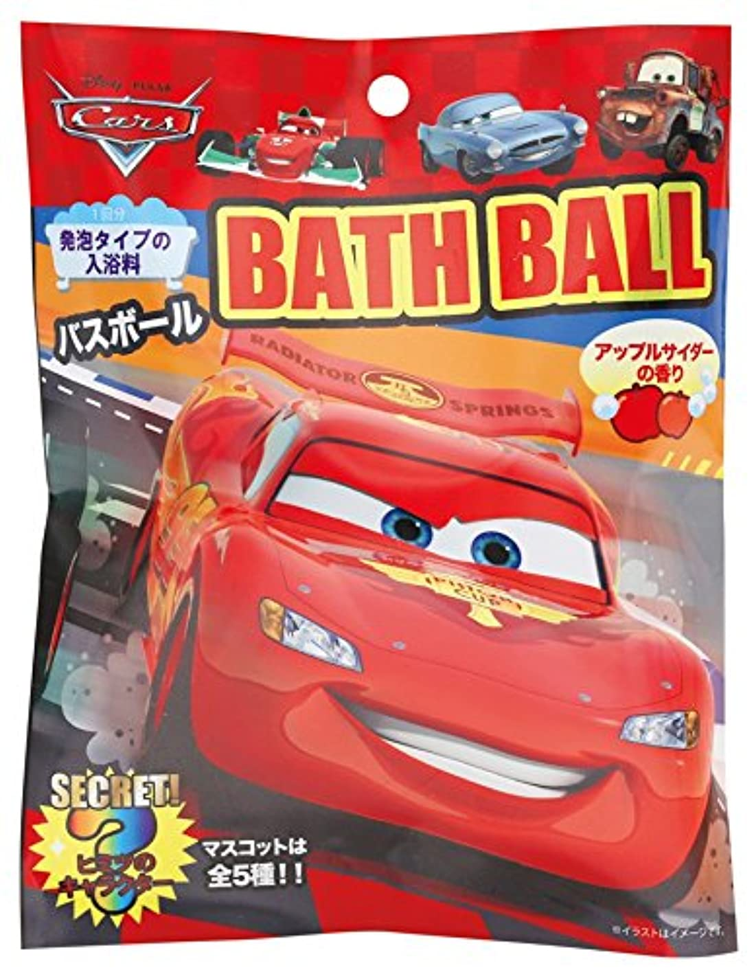 十年巨大ななめらかなディズニー 入浴剤 カーズバスボール おまけ付き DIP-79-01