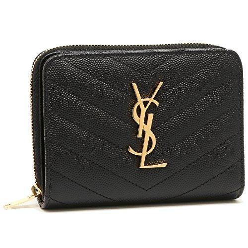 [サンローラン] 折財布 レディース SAINT LAURENT PARIS 403723 BOW01 1000 ブラック [並行輸入品]