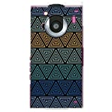 YESNO トライアングル ブルー (クリア) / for REGZA Phone T-01C/docomo DTSR1C-PCCL-201-N067