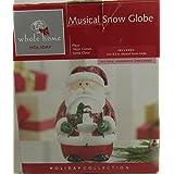 Christmas Snow Globe Musical Here Come Santa Claus 21cm