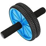Reehut 腹筋ローラー アブローラー アブホイール エクササイズローラー 腹筋トレーニング腹筋器具脂肪燃えダイエットストレッチスリムトレーナー 自宅 ジム 室外 厚化スチールパイプ 軽量 収納便利 取り付け簡単膝を保護膝マット付き