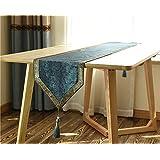 テーブルランナー 新古典派タッセルテーブルランナートップグレードプレイステーションダイニングテーブルクッション ( 色 : 緑 , サイズ さいず : 30*240センチメートル )