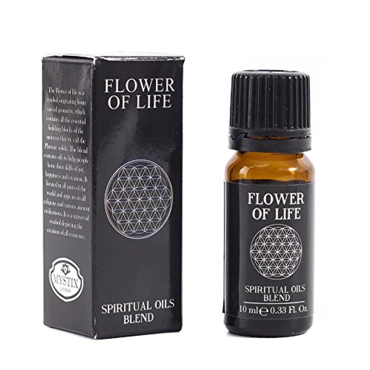 寛解浅い遅らせるMystic Moments   Flower of Life   Spiritual Essential Oil Blend - 10ml