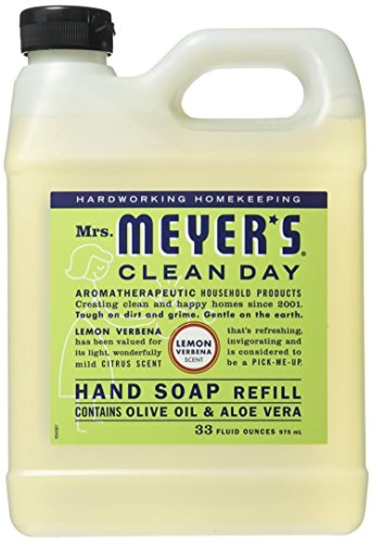 プログラム個人的な不潔Mrs. Meyer's Liquid Hand Soap Refill, Lemon Verbena, 33 Fluid Ounce by Mrs. Meyer's Clean Day