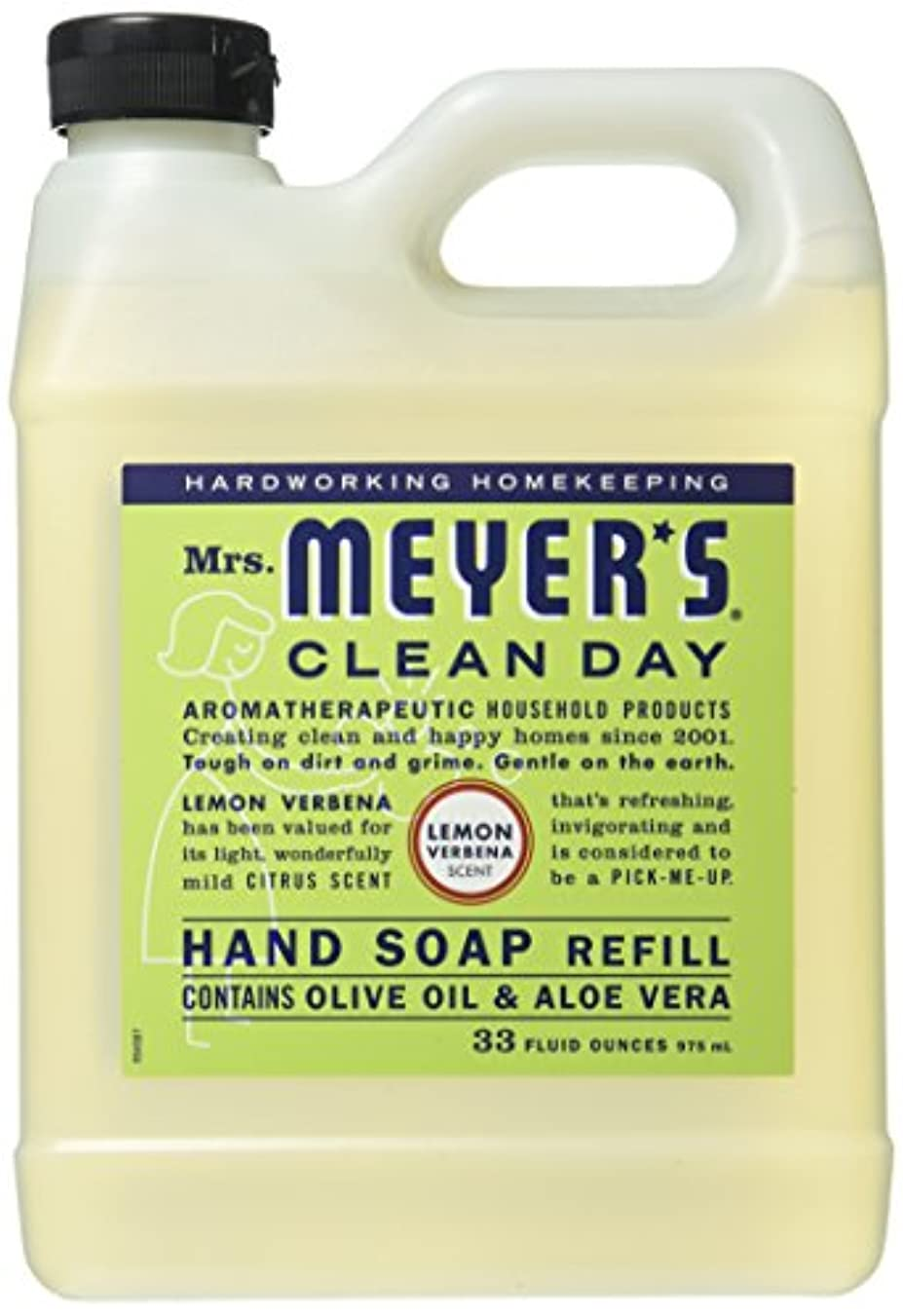 未知の入札ミュートMrs. Meyer's Liquid Hand Soap Refill, Lemon Verbena, 33 Fluid Ounce by Mrs. Meyer's Clean Day