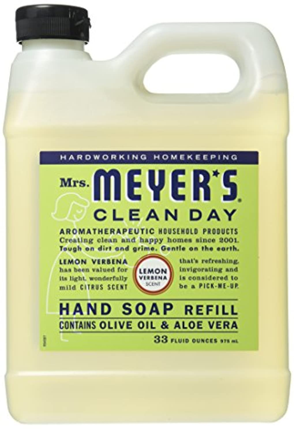 ひいきにする爵関与するMrs. Meyer's Liquid Hand Soap Refill, Lemon Verbena, 33 Fluid Ounce by Mrs. Meyer's Clean Day