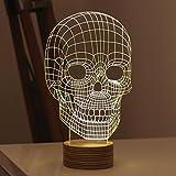 ものすごい目の錯覚 3Dスカル バルビングランプ LEDライト USB