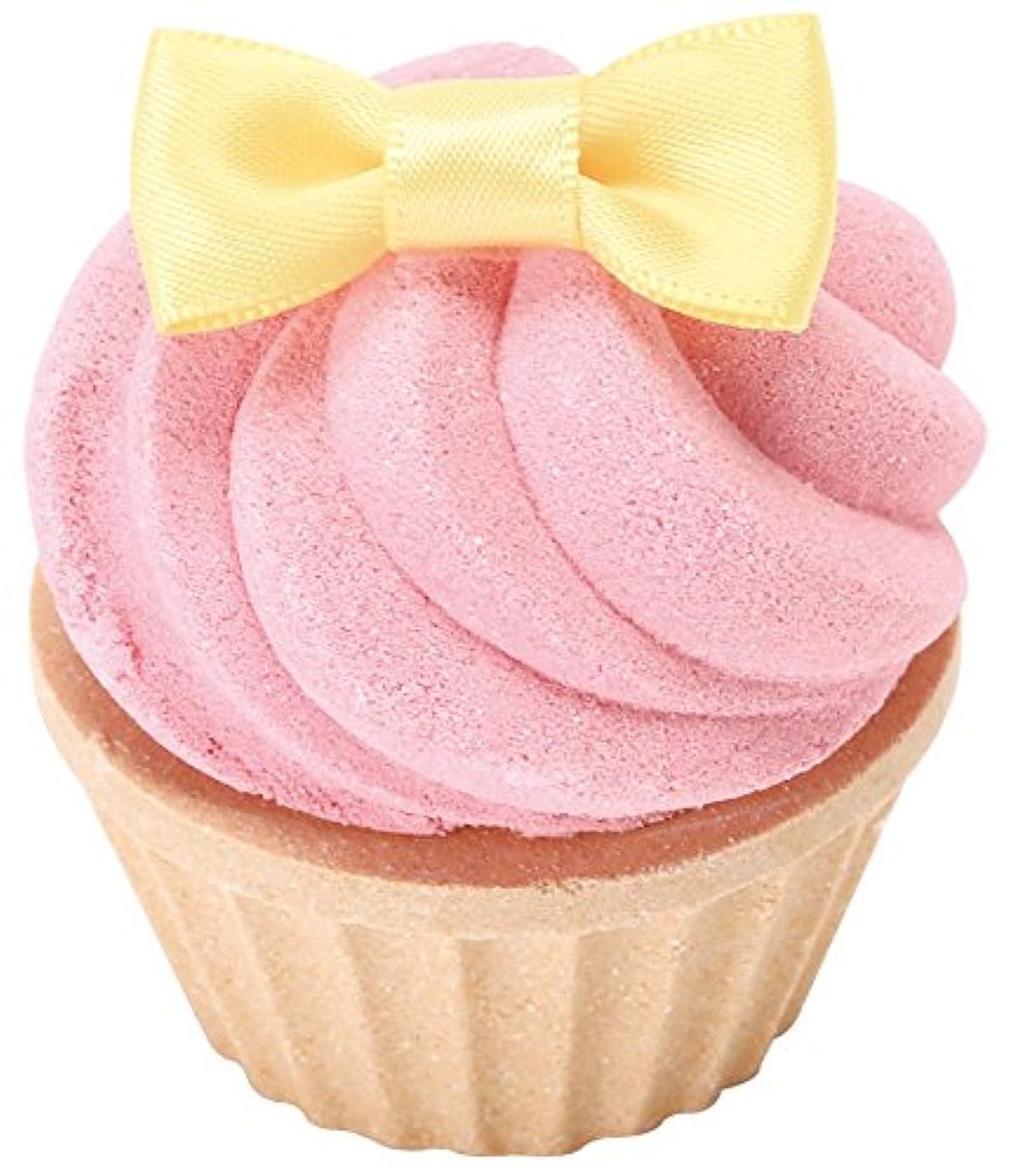 圧縮と組むすりノルコーポレーション お風呂用 芳香剤 おめかしカップケーキフィズ 60g ラズベリーの香り OB-SMM-14-1