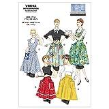 【vogue patterns】50年代 レトロデザイン エプロン型紙セット サイズ:Sml-Med-Lrg *8643