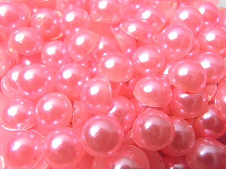 鳥トマトみ【ラインストーン77】超高級 パールストーン ピンク 各サイズ.選択可能 (6mm (約50粒))