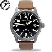 Messerschmitt 41mm チタニウム Case Pilot's Watch ME262M メンズ 男性用 腕時計 ウォッチ(並行輸入)