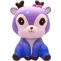 e-scenery 11 cm Galaxy鹿Squishyおもちゃ、Squishies応力おもちゃSquishy Kawaii Squishy応力Reliever Anxiety Toys Slow Risingクリーム香りつきおもちゃ子供大人