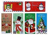 クリスマスギフトカード/マネーホルダーセット 封筒付き 30枚セット