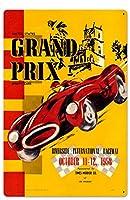 なまけ者雑貨屋 Riverside Grand Prix アメリカン 60'S レトロ ブリキ 看板 メタルプレート アンティーク おしゃれ 雑貨 インテリア