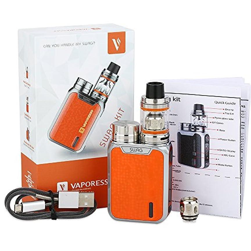 責め欲望洋服80W Vaporesso Swag TCキット、3.5ml NRG SEタンクアトマイザーおよび80W Swag TC MOD ecigsはIMLテクノロジーとアップグレード可能なOMNI 2.0チップを採用 (Orange)
