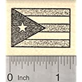Flag of Puerto Rico Rubber Stamp, United States of America