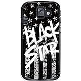 CaseMarket 【ポリカ型】 docomo らくらくスマートフォン2 F-08E ポリカーボネート素材 ハードケース [ Black American BLACK STAR ]