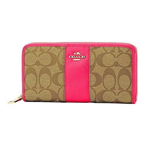 [해외][코치] COACH 지갑 (지갑) F52859 여성 [아울렛 상품] [병행 수입품] (카키 × 핑크 루비)/[Coach] COACH wallet (long wallet) F52859 Women`s [outlet item] [parallel imported goods] (Khaki × pink ruby)