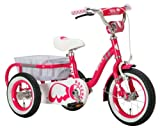 Raychell TRIA 子供三輪車 [フロントブレーキ/リアバスケット/フロントフェンダー/チェーンケース/ハンドルバーパッド標準装備]ピンク