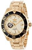 Invicta インヴィクタ Men's 13710 Grand Diver 自動巻 オートマチック Gold Textured Dial 18k Gold Ion-Plated ステンレススチール Watch 男性用 メンズ 腕時計 (並行輸入)