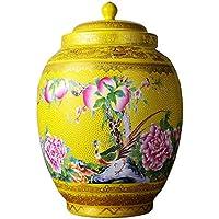 シリアルコンテナ 封印された缶陶器の貯蔵瓶ピクルスキムチジャーキッチン購入箱キャンディジャー コンテナ