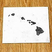 Hawaii Map Print (Unframed) Scandinavian Map Poster Industrial Loft Modern Map Art Cafe Black and White 8x10 TE-062 [並行輸入品]