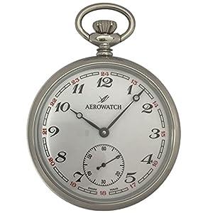 [アエロウォッチ]AEROWATCH 懐中時計 機械式手巻 オープンフェイス スモールセコンド 50616 AA02 【正規輸入品】
