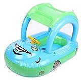 Homespun FloatライトブルーサンシェードBoat Seat Inflatable Swim水泳リングプールラフトベビーキッドギフト