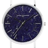 [Thomas Alexandre]パワーストーン腕時計 天然石 ミニマル デザイン 日本製シチズン メンズ/レディース時計 (ラピスラズリ)