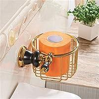 浴室ペーパータオルホルダー ユーロ - 銅の浴室黒古い金のバスタオルラック棚タオルラックマウントハードウェアがパッケージ化されている、トイレットペーパー3 Zicuee (色 : Paper Basket)