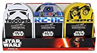 STAR WARS CatchallストレージTin Bundle with書き込み可能な黒板サーフェス – 3 Pieces – Includes 1の各Storm Trooper、r2 - d2、C - 3po