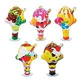 【ビニール玩具】 パフェコレクション (10個入) 【パンチボール】  / お楽しみグッズ(紙風船)付きセット [おもちゃ&ホビー]