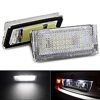 KATUR 1ペアクックホワイト18 LEDライセンスプレートライトランプ電球BMW E46 4D 98-03用車のスタイリングLED車の電球