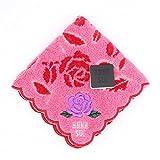 ANNA SUI アナスイ バラ タオルハンカチ ハンドタオル タオル ハンカチ ブランド レディース ギフト (ピンク)