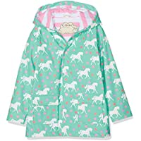 Hatley Girls RC5RG-2 Classic Printed Raincoat Hooded Long Sleeves Rain Jacket - Blue - 6
