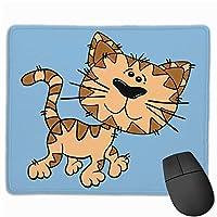 猫の子猫ランニングマウスパッド楽しいゲーミングマウスパッド、滑り止めマウスパッド